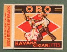 Collectible old cigarette packet ORO Havana  #284